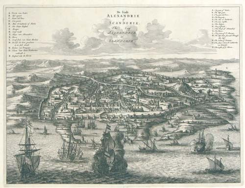 Arnold Montanus. De Stadt Alexandrie of Scanderik. The Citÿ Alexandria or Scanderik