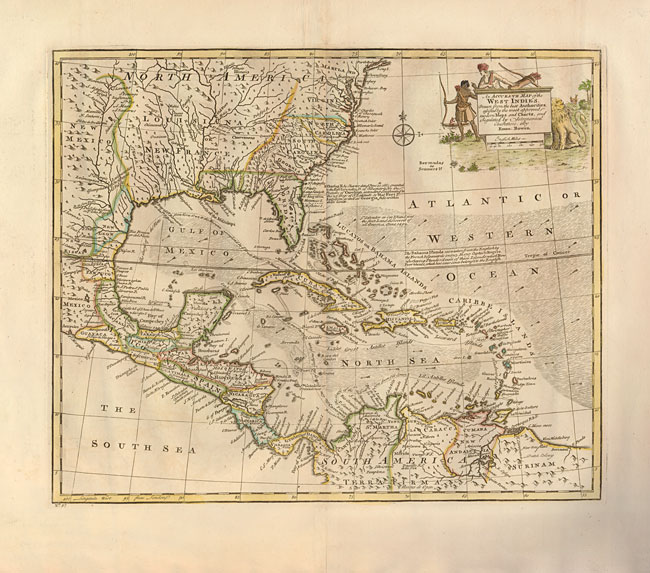 Emanuel Bowen . An Accurate Map of the West Indies. Drawn from the Best Authorities, Assisted by the Most Approved Modern Maps and Charts, and Regulated by Astronomical Observations.