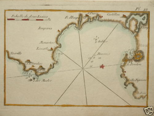 Bay of Roses -J. Roux - 1674