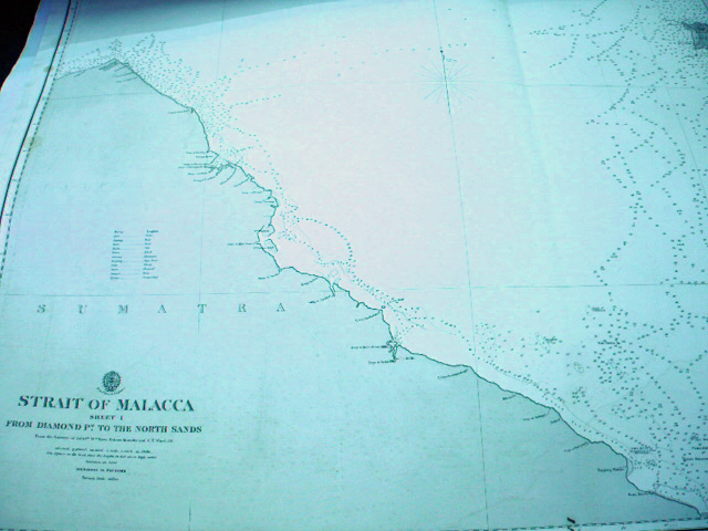 ADMIRALTY OFFICE. STRAIT OF MALACCA SHEET 1 FROM DIAMOND PT. TO THE NORTH SANDS.