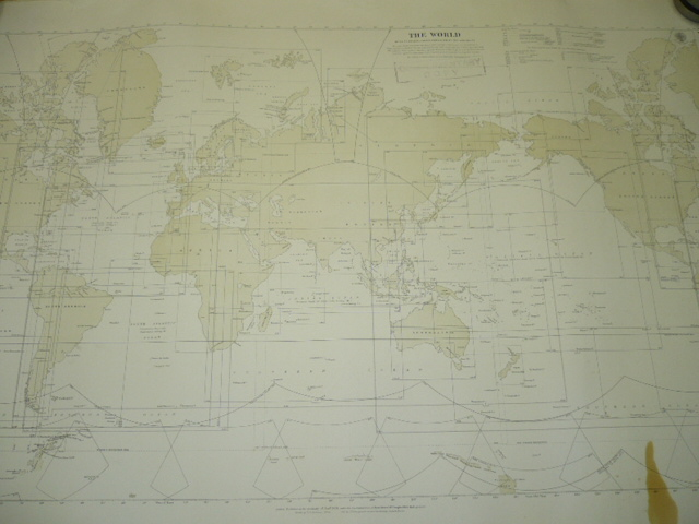 The World. Index to General Charts Published By the Admiralty 1929