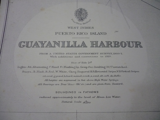 Admiral Sir Wharton, Hydrographer. West Indies. Puerto Rico Island. Guayanilla Harbour.
