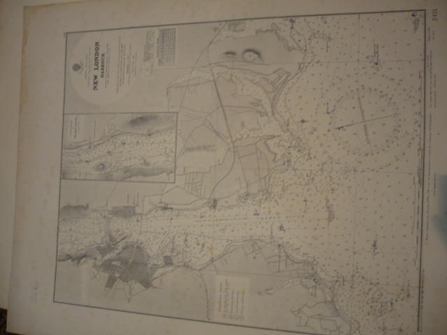 Admiralty. NEW LONDON HARBOUR. NAUTICAL CHART.