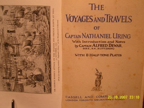 Cassell. THE VOYAGES AND TRAVELS OF CAPTAIN NATHANIEL URING