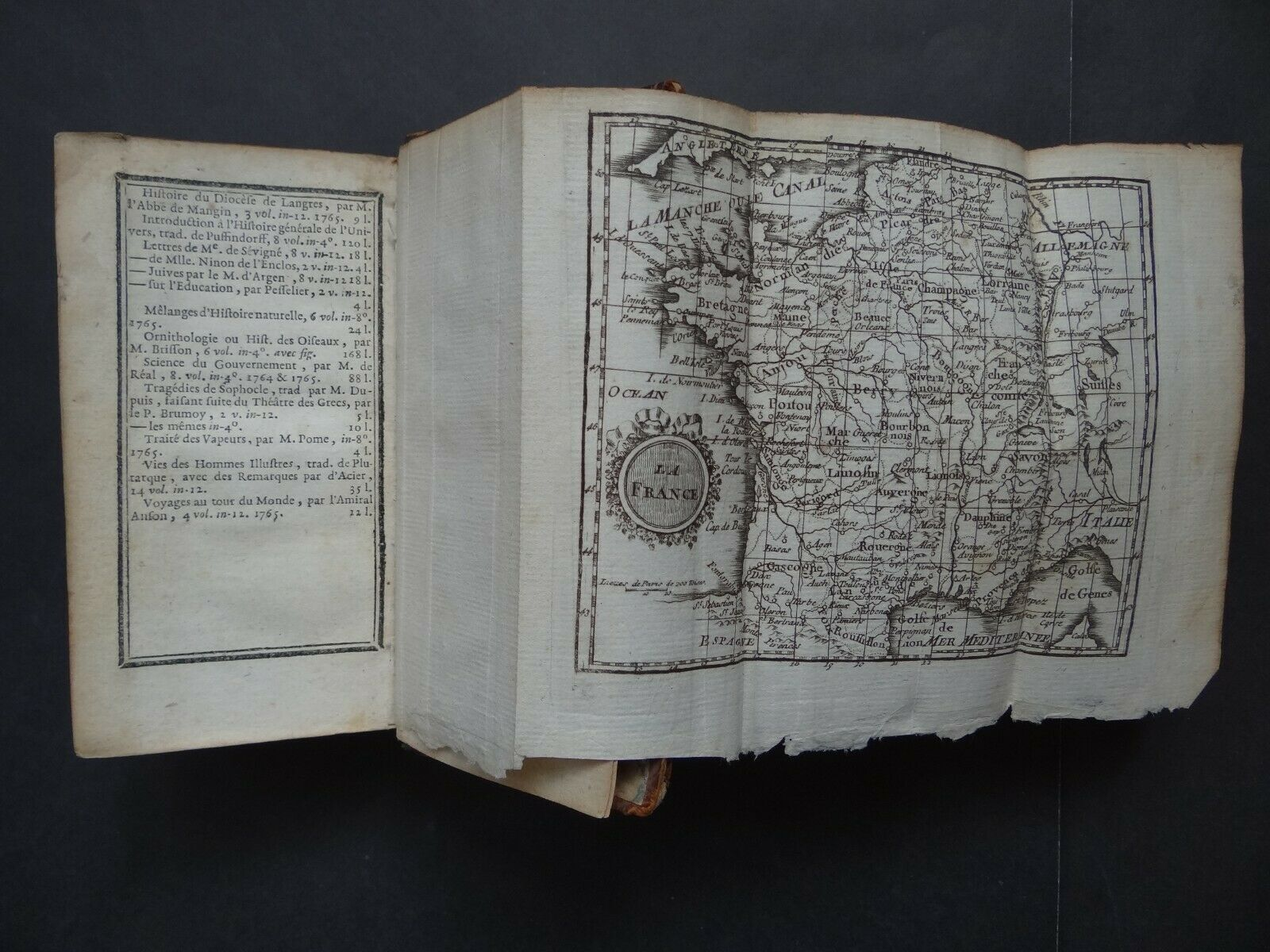1765 L'Abbe EXPILLY Atlas Le Geographie Manuel + map