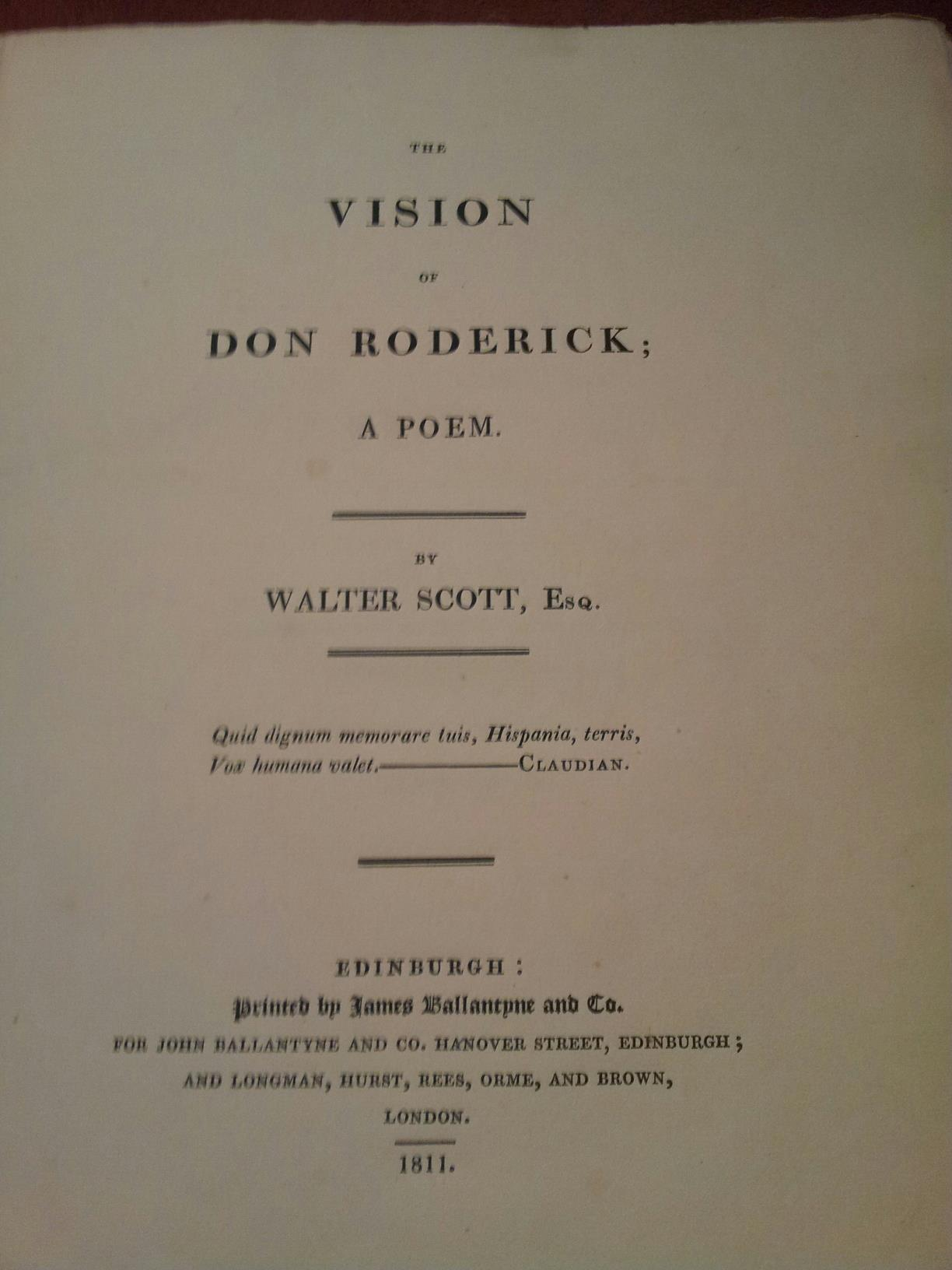 THE VISION OF DON RODERICK; A POEM